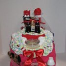Hot Pink Bridal Towel Cake  - THpb