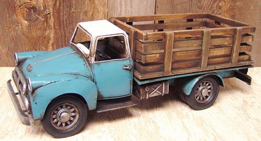 Antique Reproduction Blue Farm Truck - CWG112270