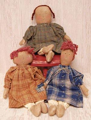 Primitive Mini Dolls - 3/Set - CWG1412