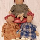Primitive Mini Dolls - 3/Set - CWG1412
