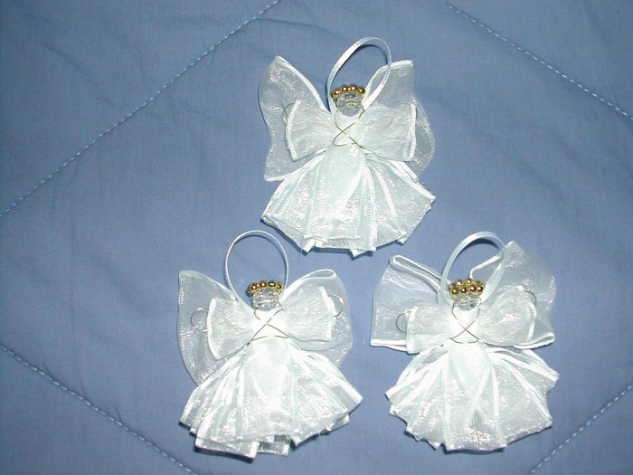 White Ribbon Angels(set of 3) - RAws
