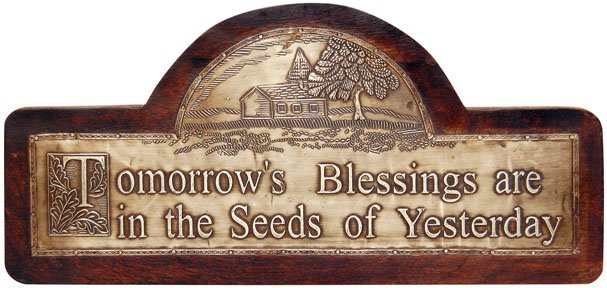 Tomorrows Blessings Plaque - CWG111440