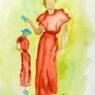 Lady 3 Watercolor - NWl3