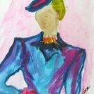 Lady 4 Watercolor - NWl4