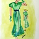 Lady 6 Watercolor - NWl6