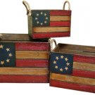 Americana Wood Crate Set/3 - CWGJHE5383