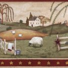 Country Bath & Sheep Wall Border - CWG16379