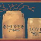 Faith Hope Love Crocks Black Wall Border - CWG90774