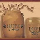 Faith Hope Love Crocks Natural  Wall Border - CWG90767