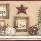 Faith Hope Love Sampler Wall Border - CWG16369