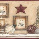 Faith Hope Love Sampler Wall Border - CWG16369