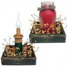 Wood Candle Box - CWGK114B
