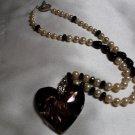 Gold Glass Heart Necklace  - DZgg