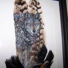 Wolf Framed Feather Art - OWwo