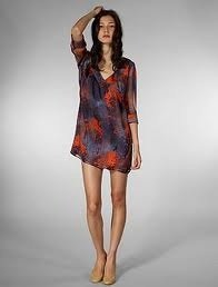Previously Owned Rory Beca 100% Silk Lupe Tunic / Mini Dress Size Medium