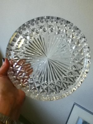 "Signed Waterford Crystal 10"" Tray"