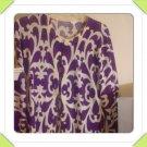 Sale! J.Crew 100% Italian Merino Wool Print Cardigan Sweater Size Large
