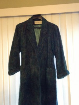 Beautiful Vintage 1980s Designer Evan Picone Mohair & Wool Belted Dress Coat Size 10/M