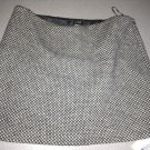 J.Crew Wool Blend Slub Weave Gray & White Skirt (Hits Just Above the Knee) Size 12
