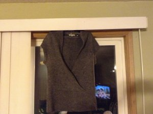 SALE! Luxurious Vince Thick Alpaca/Wool/Cashmere Charcoal Gray Faux Wrap Front Sweater Size S