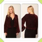 SALE! New Winter Kate by Nicole Ritchie Love Thorn Velvet Jacket in Wine Size Medium Retail $395.00