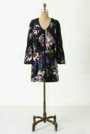 Anthropologie Best Selling  Leifsdottir Silk Printed Miraflores  Dress Size 8