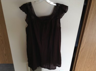 Simply Charming Casual Espresso J.Crew Tunic/ Mini Dress/Swimsuit Cover Size L