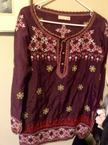 From Anyhropologie - Stunning Odd Molly Silk Embroidered Tunic  Size 1 (Small)