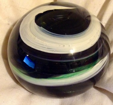 Gorgeous Art Glass Paperweight Signed JB '99