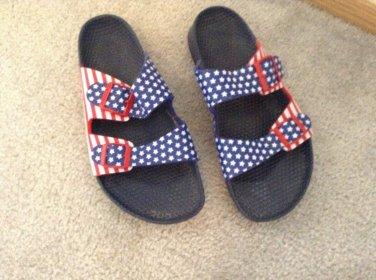 MEN'S BRAND NEW (No Box) US Flag BIRKENSTOCKS Men's 9 / Ladies 11
