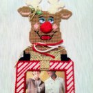 Reindeer Picture Frame Red and White