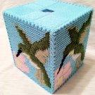 Tissue Box - Hummingbird (single stitch)