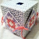 Tissue Box - Grey and Pink