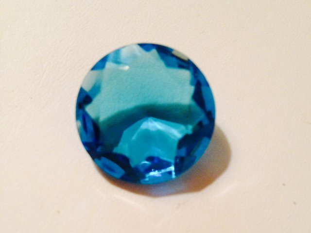 Vintage Faceted Blue Color Glass Stone 20mm DIY Jewellery Designs