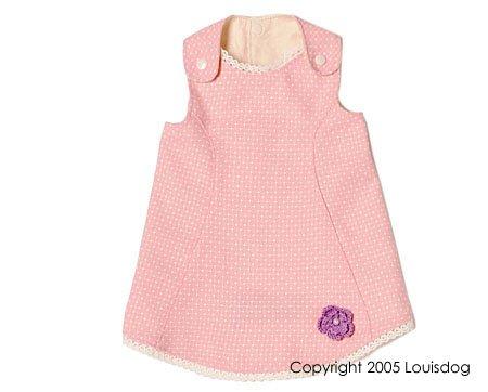 Designer Pink Flower dog dress - by Louis Dog  ~S~