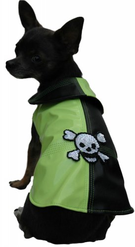 Pirate Raincoat for Dog - Lime Green ~S~