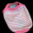 Dog T-shirt, Pink Stripes, Toy Breed ~Tea Cup Size~