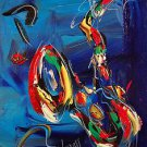 MUSIC JAZZ ART original oil painting MODERN ABSTRACT CANVAS SIGWERG