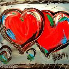 HEARTS  ART original oil painting MODERN ABSTRACT CANVAS SRWEF6U