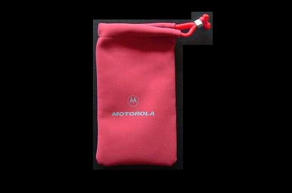 MOTOROLA LADIES MOBILE TELEPHONE PURSE CASE RED