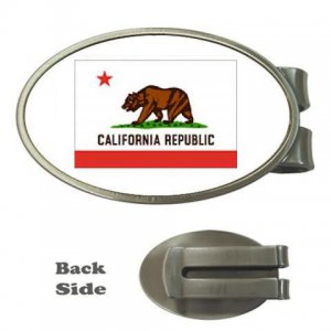 STATE FLAG OF CALIFORNIA MONEY CLIP