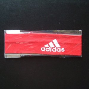 ADIDAS SPORTS ELASTICATED HEAD BAND (RED)