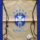 BRAZIL NATIONAL FOOTBALL TEAM GOLD WATERPROOF BACKPACK KITBAG
