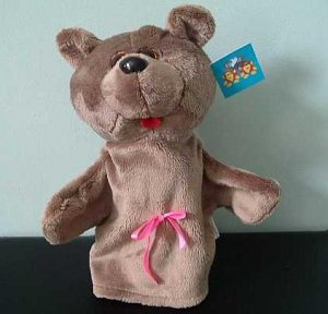 GOLDIE THE BEAR CHILDRENS CHARACTER GLOVE PUPPET