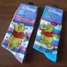 DISNEY WINNIE THE POOH SOX SOCKS TWO PAIRS NEW AND PERFECT