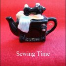 Red Rose Canadian  Tea Premium Mini-Teapot Sewing Time