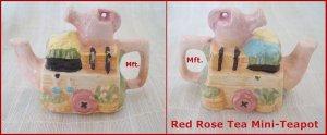Red Rose Canadian  Tea Premium Mini-Teapot Spring Garden