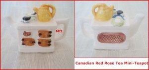 Red Rose Canadian  Tea Premium Mini-Teapot Afternoon Tea