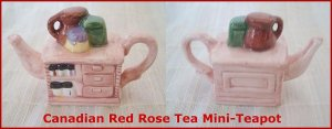 Red Rose Canadian  Tea Premium Mini-Teapot Country Kitchen