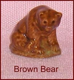 Wade Porcelain Whoppa Brown Bear  Figurine